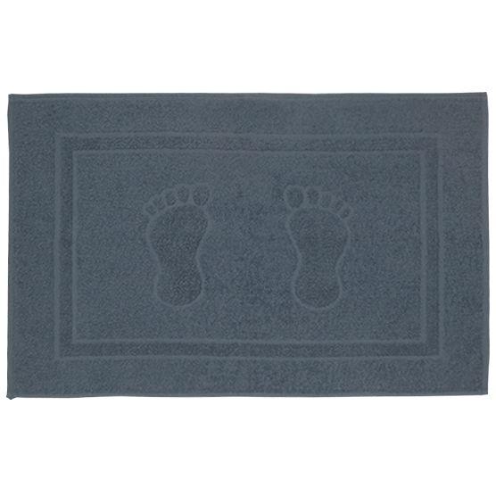 Tapete Para Banheiro Pegada Atoalhado 100% Algodão Cinza 45x70cm Camesa