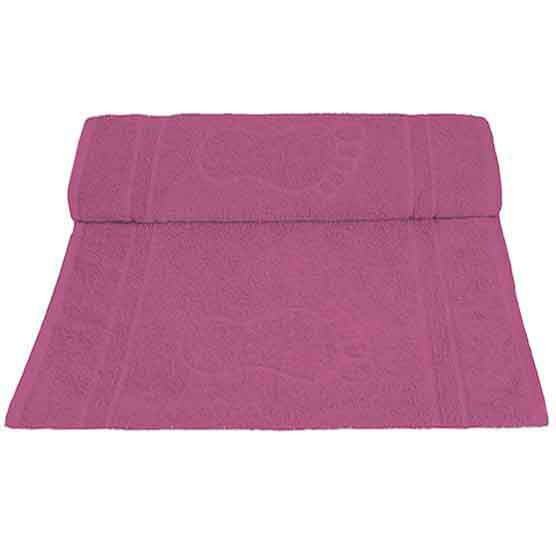 Tapete Para Banheiro Pegada Atoalhado 100% Algodão Rosa Escuro 45x70cm Camesa