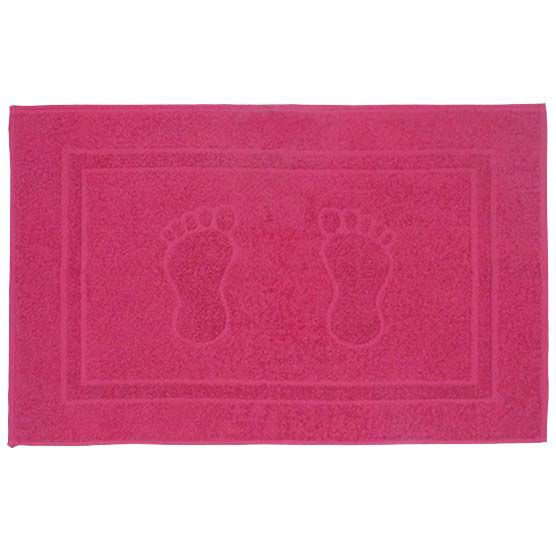 Tapete Para Banheiro Pegada Atoalhado 100% Algodão Pink 45x70cm Camesa