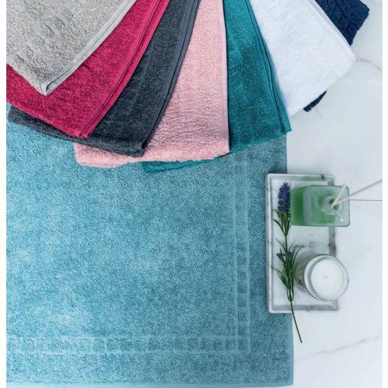 Tapete Para Banheiro Premium Atoalhado 100% Algodão Azul Piscina 45x70cm Camesa