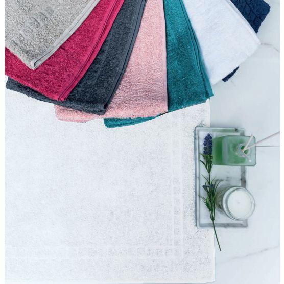 Tapete Para Banheiro Premium Atoalhado 100% Algodão Branco 45x70cm Camesa