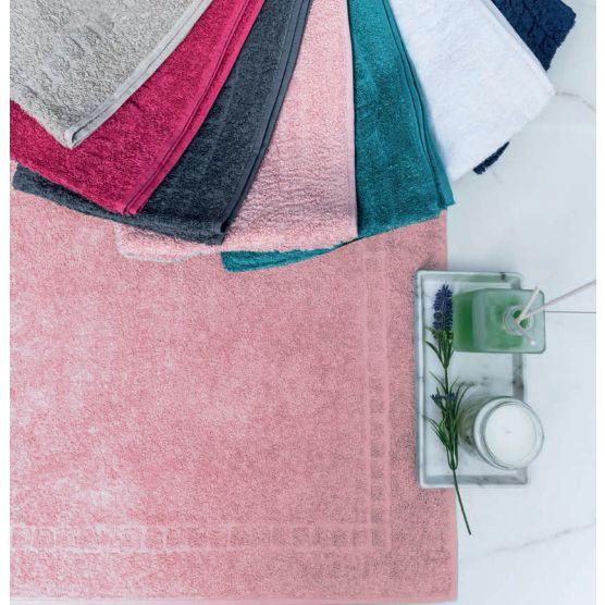 Tapete Para Banheiro Premium Atoalhado 100% Algodão Rose 45x70cm Camesa