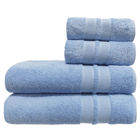 Toalha Banhão Avulsa 100% Algodão 85cmx1,50m Neo Allure Fio Penteado Azul Camesa