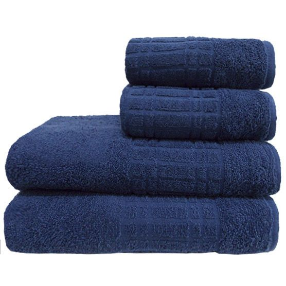 Toalha De Banho Camesa Loft Azul 100% Algodão 70cmx1,30m