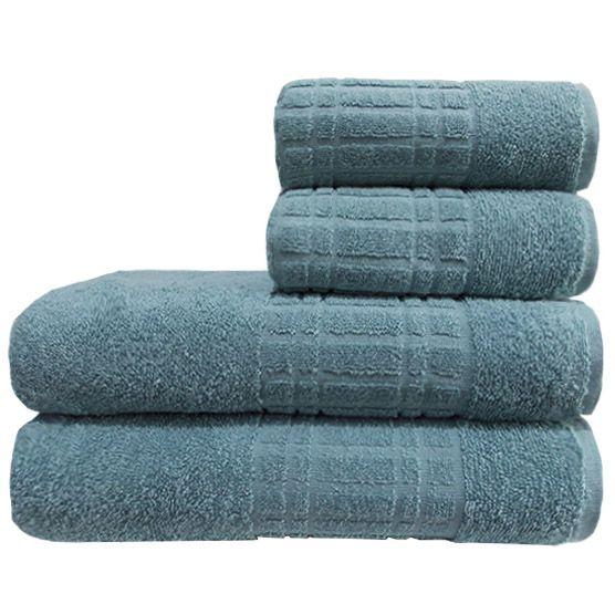 Toalha De Banho Camesa Loft Azul Piscina 100% Algodão 70cmx1,30m