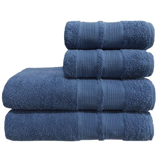 Toalha De Banho Avulsa Camesa Remix Azul 100% Algodão 70cmx1,40m