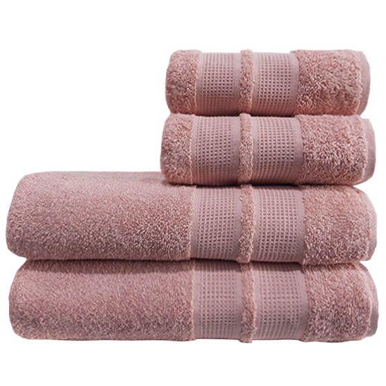 Toalha De Banho Camesa Remix Rosa 100% Algodão 70cmx1,40m