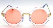 Óculos Acetato Feminino Clean Transparente Lt Laranja
