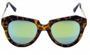Óculos de Sol Acetato Feminino Estampado Marrom