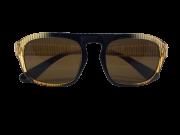 Óculos de Sol Acetato Feminino Marrom Listrado