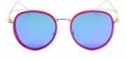 Óculos de Sol Acetato Flat Lens Feminino Azul