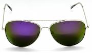 Óculos de Sol Metal Aviador Feminino Dourado Lt Vermelha
