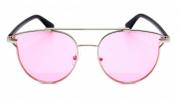 Óculos de Sol Metal Feminino Clean Prata Lt Rosa
