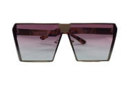 Óculos de Sol Metal Feminino Dourado Lt Rosa