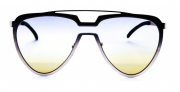 Óculos de Sol Metal Feminino Flat Lens Dourado
