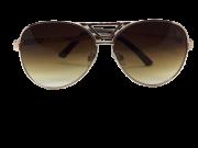 Óculos de Sol Metal Feminino Flat Lens Dourado Lt Marrom
