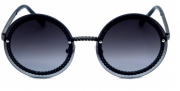 Óculos de Sol Metal Feminino Flat Lens Grafite