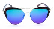 Óculos de Sol Metal Feminino Flat Lens Preto Lt Verde