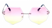 Óculos de Sol Metal Feminino Ocean Rosa