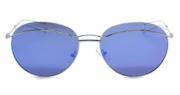 Óculos de Sol Metal Feminino Prata Lt Azul