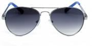 Óculos de Sol Metal Feminino Preta c Azul