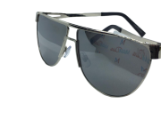 Óculos de Sol Metal Flat Lans Feminino preto e prata