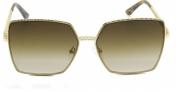 Óculos Metal Feminino Dourado Com Estampado