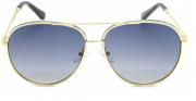 Óculos Metal Feminino Dourado Lt Preta