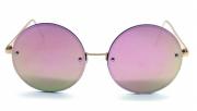Óculos Metal Feminino Dourado Lt Rosa