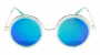 Óculos de Sol Acetato Feminino Flat Lens Dourado Lt Verde