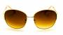 Óculos de Sol Metal Feminino Creme