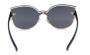 Óculos de Sol Metal Feminino Flat Lens Azul