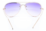 Óculos de Sol Metal Feminino Flat Lens Dourado Lt Lilás