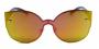 Óculos de Sol Metal Feminino Flat Lens Laranja