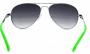 Óculos de Sol Metal Feminino Preta c Verde