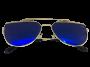 Óculos de Sol Metal Flat Lans Feminino Azul
