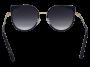 Óculos de Sol Metal Unissex Dourado Lt Preto
