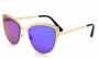 Óculos Metal Feminino Flat Lens Dourado Lt Verde