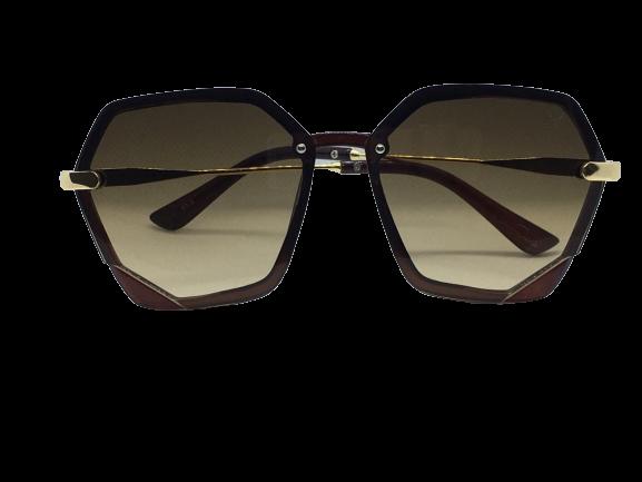 Óculos de Sol Acetato Feminino Flat Lens Marrom