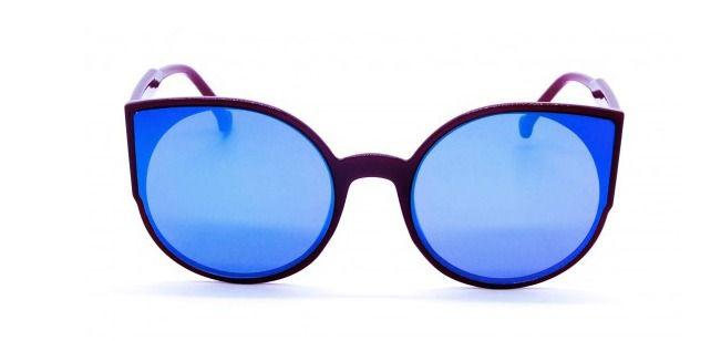 Óculos de Sol Acetato Feminino Flat Lens Vinho Lt. Verde