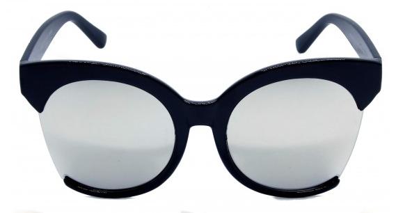 Óculos de Sol Acetato Feminino Preto c/ Prata