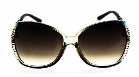 Óculos de Sol Acetato Feminino Transparente c/ Azul