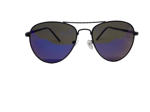 Óculos de Sol Metal Aviador Feminino Dourado Lt Verde