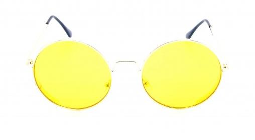 Óculos de Sol Metal Feminino Clean Amarelo