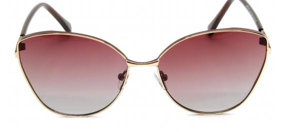 Óculos Metal Feminino Rosa Degrade