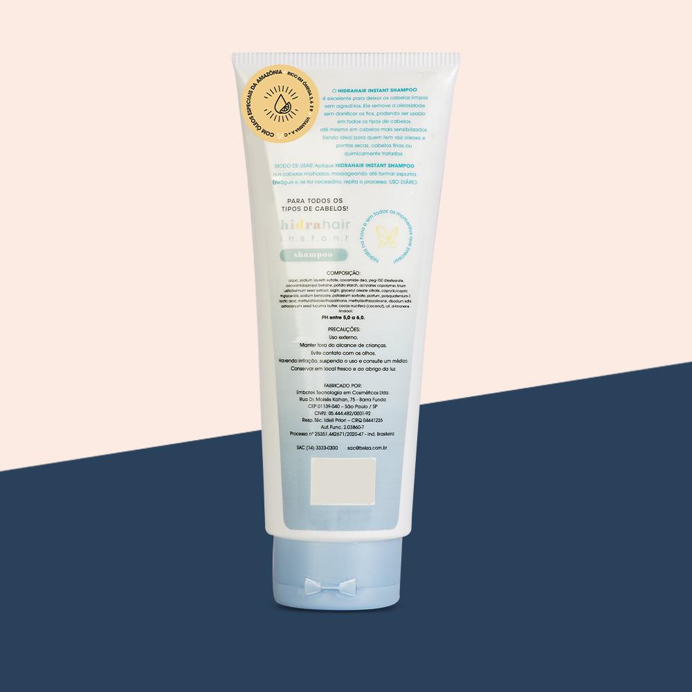 KIT Shampoo + Condicionador + Máscara hidrahair instant