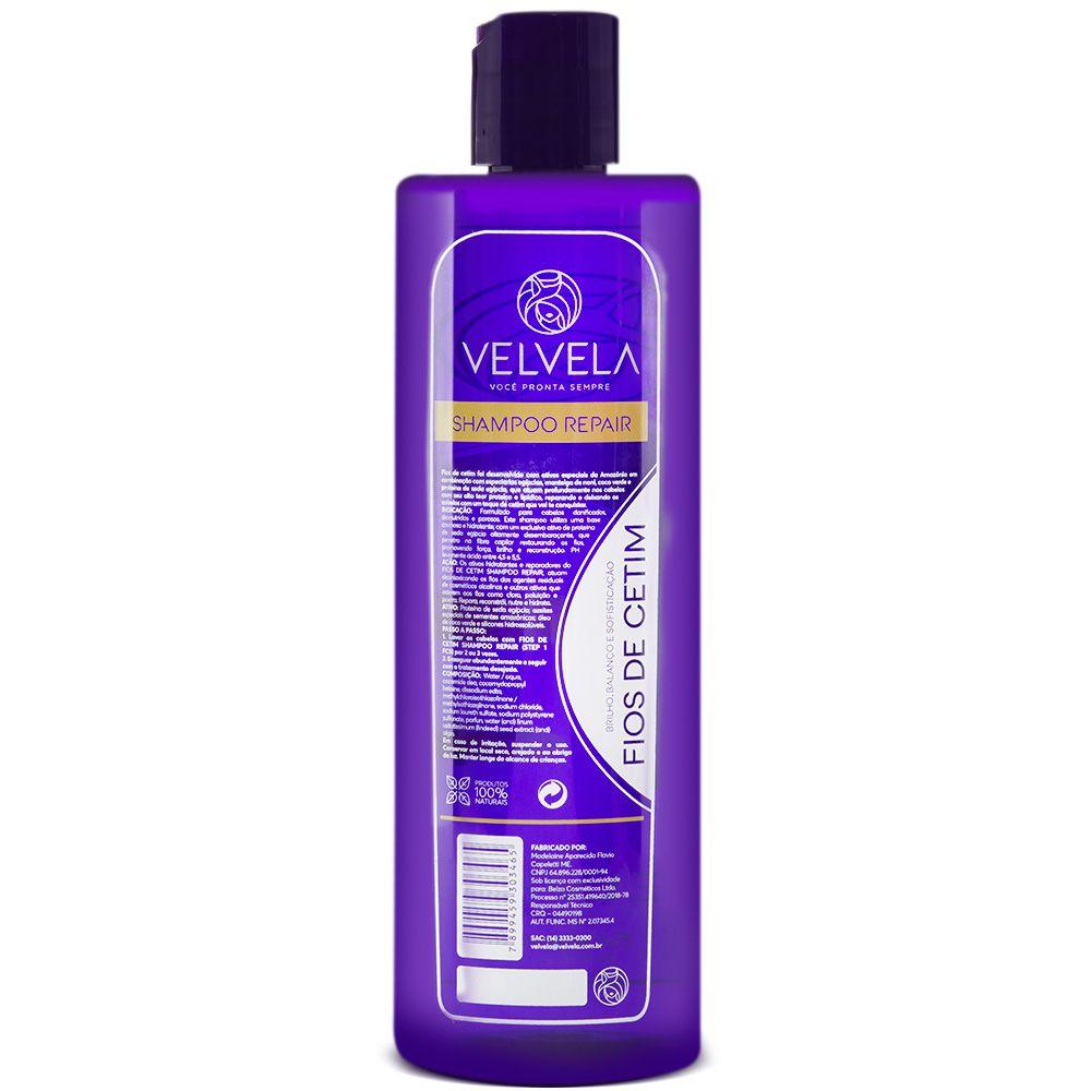 Kit Shampoo e Máscara de Hidratação Fios de Cetim