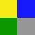 Amarelo/Azul/Verde/Cinza