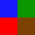 Azul/Verde/Vermelho/Marrom