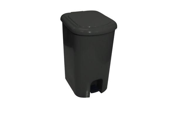 Lixeira com Pedal Polipropileno Suporte Interno p/ Fix. do Saco de Lixo 50L - Ecoline - Só Lixeiras